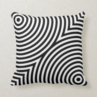 Overlapping Concentric Circles Throw Pillow