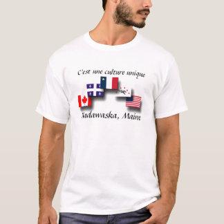 overlapping flags jpg, Madawaska, Maine, C'est ... T-Shirt