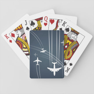 Overlapping Flight Paths Pattern Playing Cards