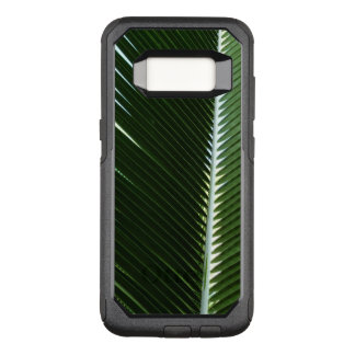 Overlapping Palm Fronds Tropical Green Abstract OtterBox Commuter Samsung Galaxy S8 Case