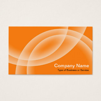 Overlapping Spheres - Orange Business Card
