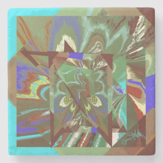 Overlay Abstract Exciting Design Stone Coaster