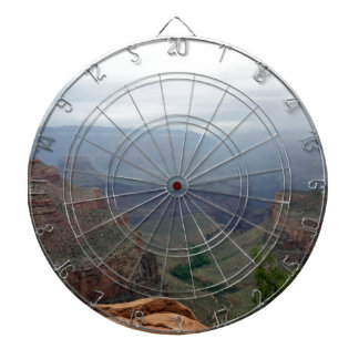 Overlook at Grand Canyon National Park Dartboard With Darts