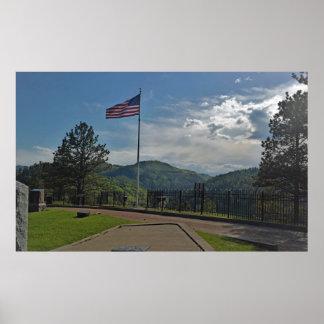 Overlooking Deadwood from Mount Moriah Cemetery Poster