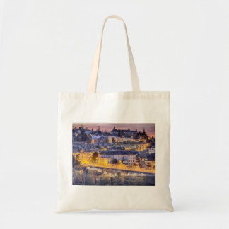 Overlooking Fribourg in the early evening Tote Bag
