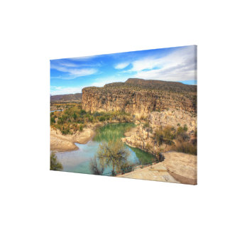 Overlooking the Rio Grande Canvas Print