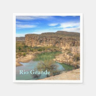 Overlooking the Rio Grande Disposable Napkin