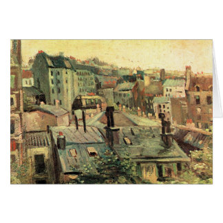 Overlooking the rooftops of Paris by van Gogh Card