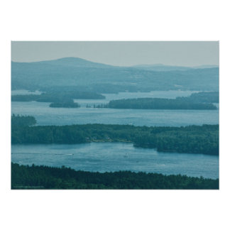 Overlooking Winnipesaukee Poster