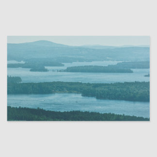 Overlooking Winnipesaukee Rectangular Sticker