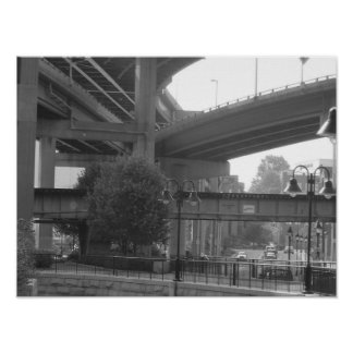 Overpass in Richmond Poster