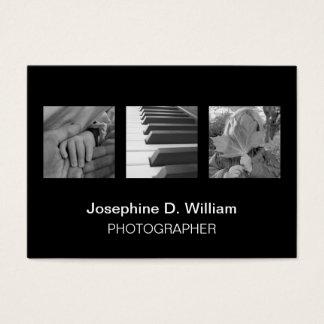 Oversize 3 photos or logo black white modern chic
