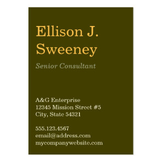 Oversize moss gray professional bold type design pack of chubby business cards