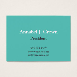 Oversize solid teal company logo traditional