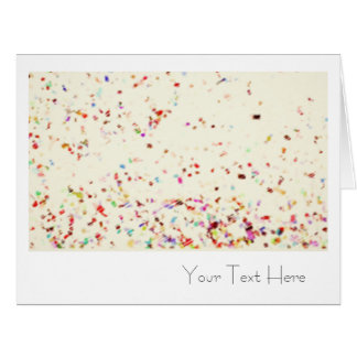 Oversized Confetti Art Blank All Occasion Card