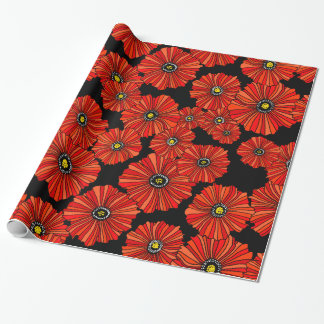 Oversized poppies gift wrap wrapping paper