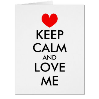 Oversized Valentines Day card | Keep calm and love