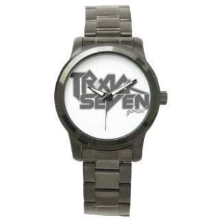 Oversized Watch with the Track Seven Band Logo