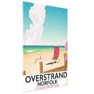 Overstrand Norfolk Beach travel poster Canvas Print