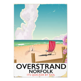 Overstrand Norfolk Beach travel poster Photo
