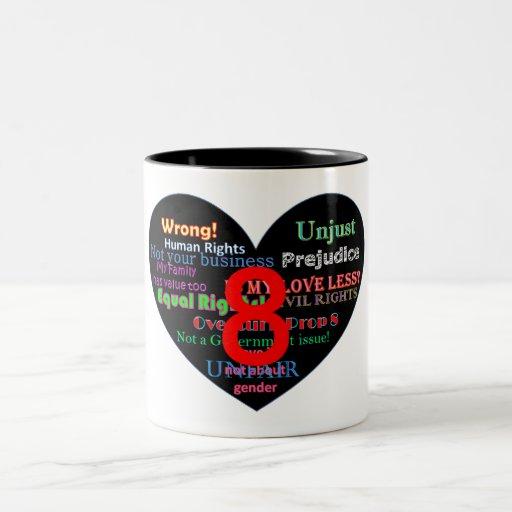 Overturn Prop 8 Heart Coffee Mug