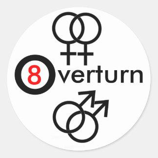 Overturn Prop 8 Round Sticker