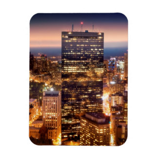Overview of Boston at night Rectangular Photo Magnet