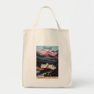 Overview of the Banff Springs Hotel Poster Tote Bag