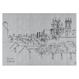 Overview of the City | Nantes, France Cutting Board