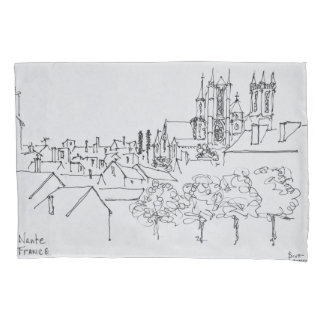 Overview of the City   Nantes, France Pillowcase