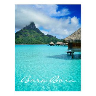 Overwater bungalow, Bora Bora vertical text card