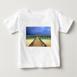 Overwater bungalows at Sheraton Maldives Baby T-Shirt
