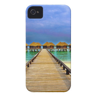 Overwater bungalows at Sheraton Maldives iPhone 4 Case