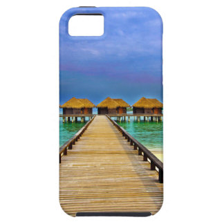 Overwater bungalows at Sheraton Maldives iPhone 5 Covers