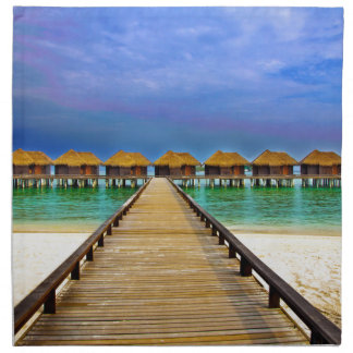 Overwater bungalows at Sheraton Maldives Napkin