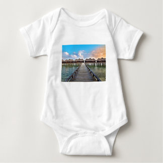 Overwater Bungalows Baby Bodysuit