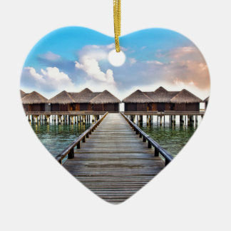 Overwater Bungalows Ceramic Ornament