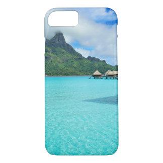 Overwater bungalows in Bora Bora lagoon iphone 7 iPhone 7 Case