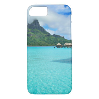 Overwater bungalows in Bora Bora lagoon iphone 7 iPhone 8/7 Case