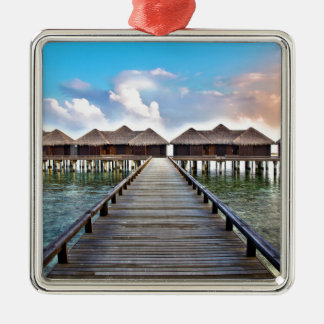 Overwater Bungalows Metal Ornament
