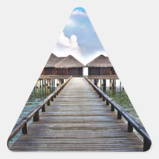Overwater Bungalows Triangle Sticker