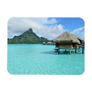 Overwater resort on Bora Bora rectangular magnet