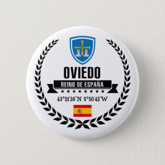 Oviedo 6 Cm Round Badge