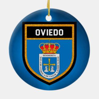 Oviedo Flag Ceramic Ornament