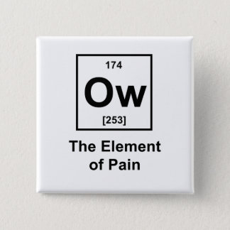 Ow, The Element of Pain 15 Cm Square Badge