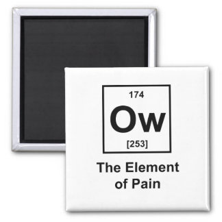 Ow, The Element of Pain Square Magnet