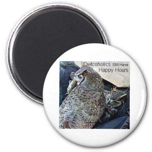 Owcoholics Still Have Happy Hours Magnet