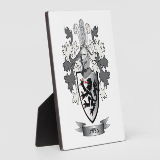 Owen Family Crest Coat of Arms Display Plaque