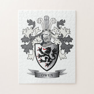 Owen Family Crest Coat of Arms Jigsaw Puzzle