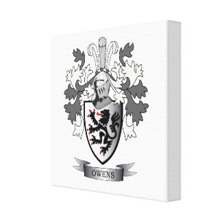 Owens Family Crest Coat of Arms Canvas Print